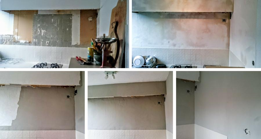Keuken-makeover-stucen en schilderen