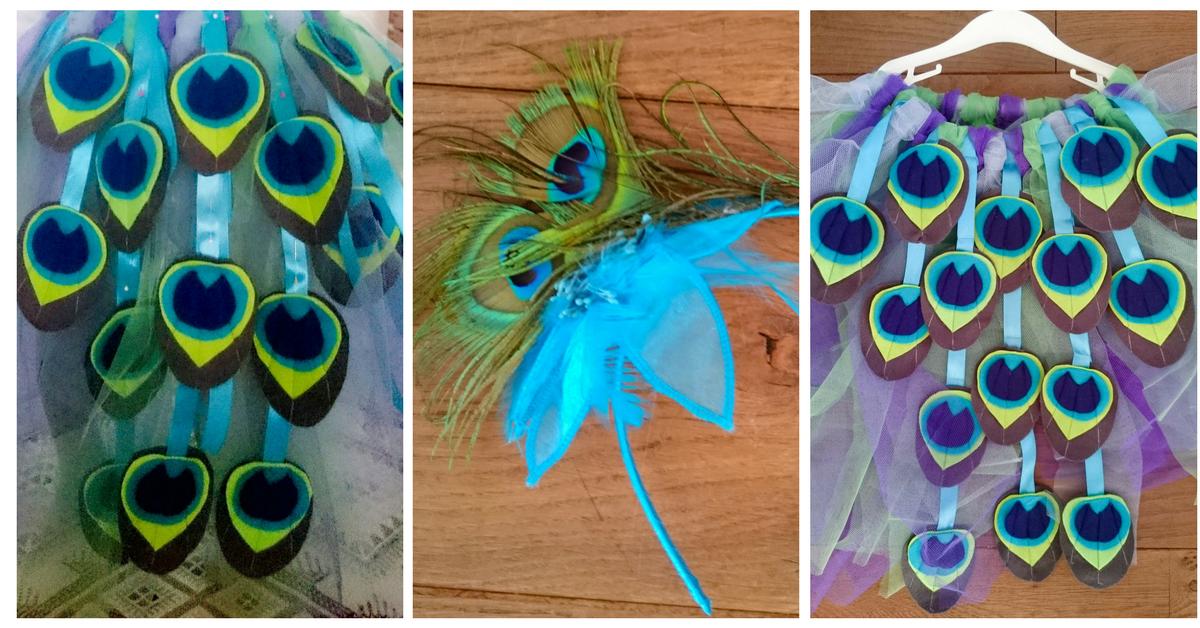 Diy pauwenkostuum confetti stories - Blauwe turquoise decoratie ...